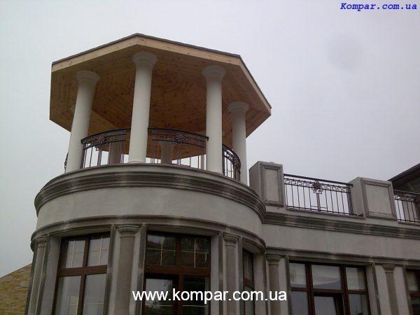 Перила кованые балкона