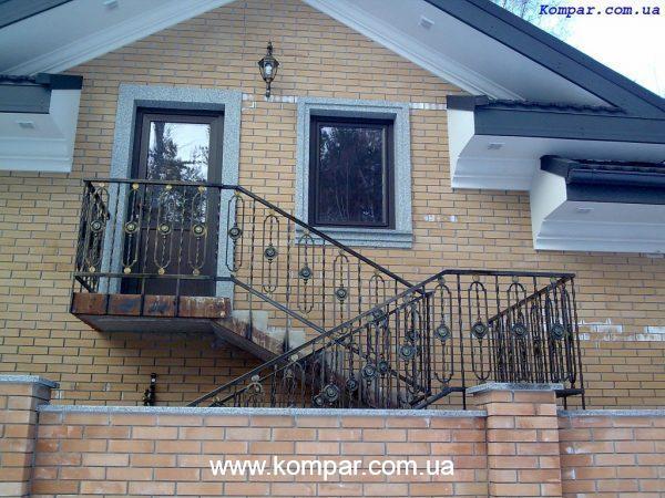 Фальш балкон кованый