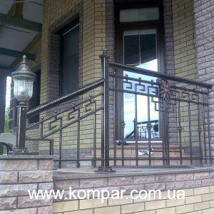 кованые ограждения на террасу