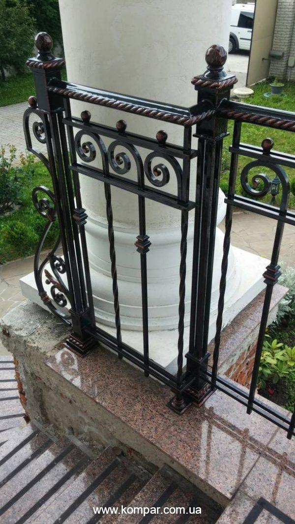 перила кованые для террасы