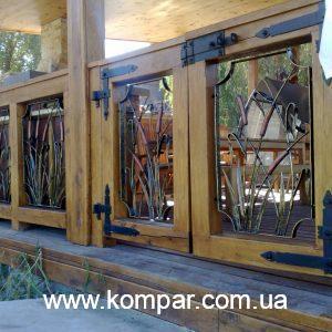кованые террасы со шторами
